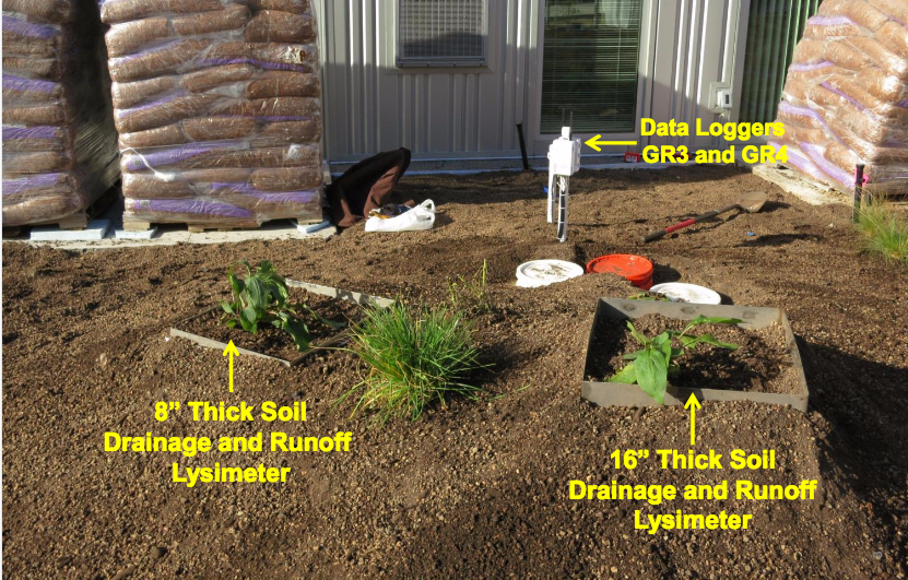 Measurement of soil drainage using lysimeters is a key supplemental measurement on green roof performance quantification projects.