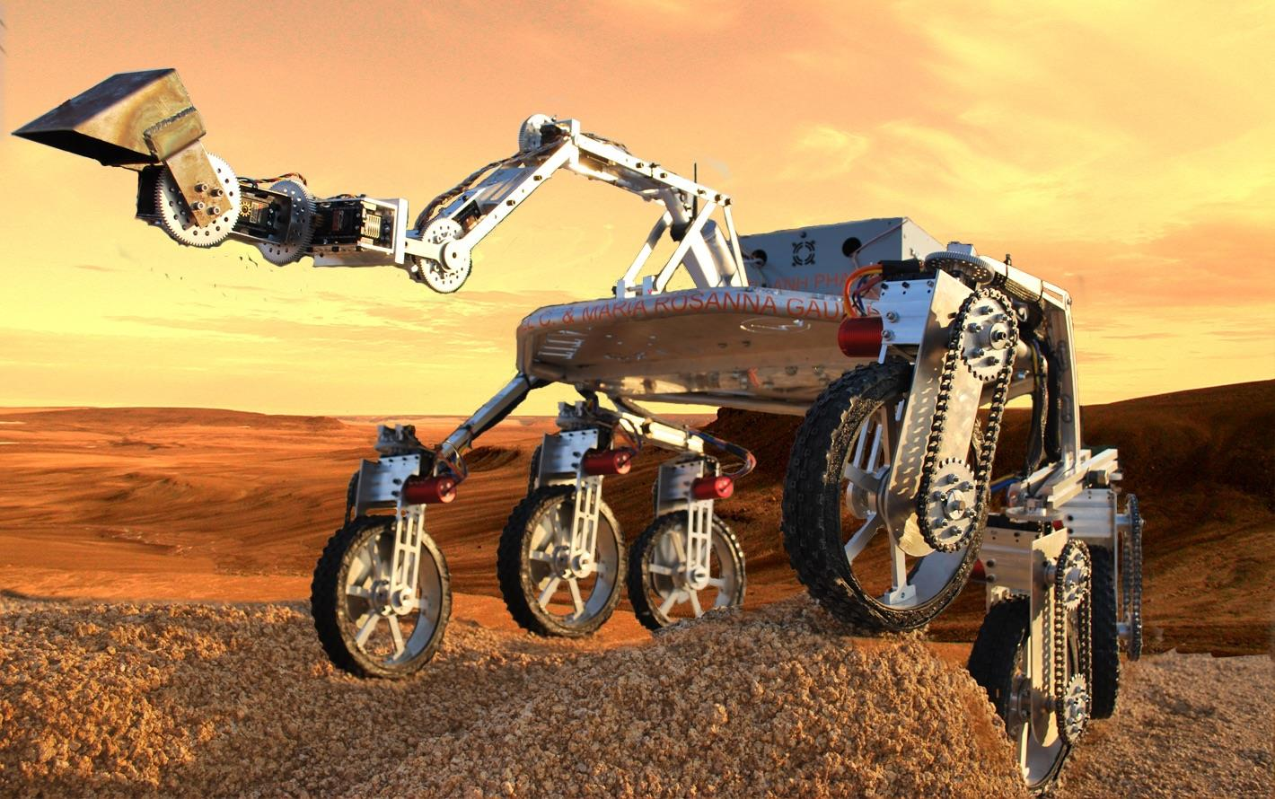 A prototype image of the Titan 1 Rover.